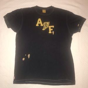 """Abercrombie & Fitch Vintage Appliqué """"Stained"""" Tee"""